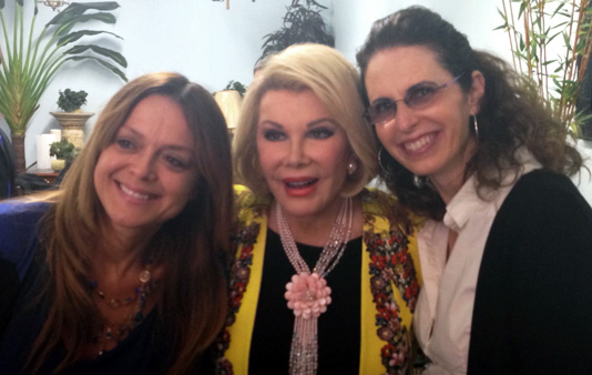 Catherine and Lisa with Joan Rivers